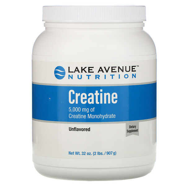 Lake Avenue Nutrition, Creatine Powder, Unflavored, 5,000 mg, 32 oz (907 g)
