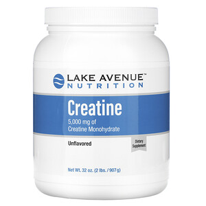 Lake Avenue Nutrition, Creatine Powder, Unflavored, 5,000 mg, 32 oz (907 g) отзывы покупателей