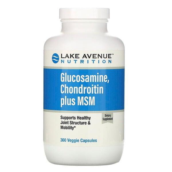 גלוקוזאמין, כונדרואטין בתוספת MSM, 360 כמוסות צמחיות