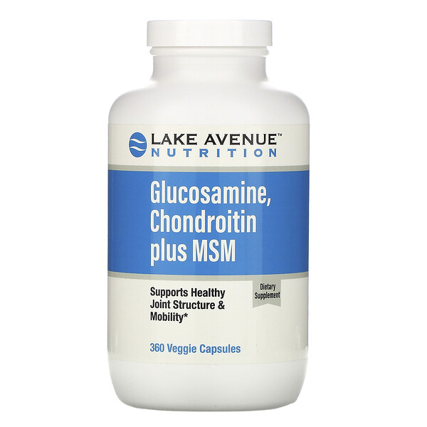 Lake Avenue Nutrition, Glucosamine, Chondroitin plus MSM, 360 Veggie Capsules