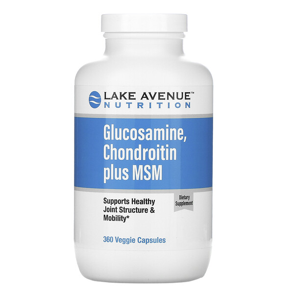 Glucosamine, Chondroitin plus MSM, 360 Veggie Capsules