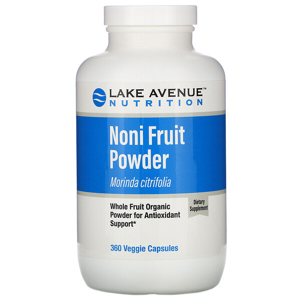 Noni Fruit Powder, Organic Whole Fruit Powder, 360 Veggie Capsules