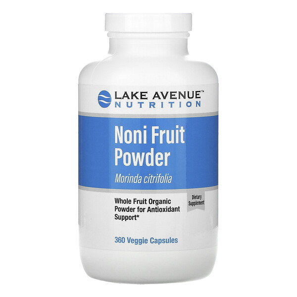 Lake Avenue Nutrition, Noni Fruit Powder, Noni-Fruchtpulver, Bio-Vollfruchtpulver, 360 vegetarische Kapseln