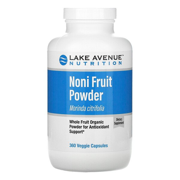Lake Avenue Nutrition, Noni Fruit Powder, Organic Whole Fruit Powder, 360 Veggie Capsules