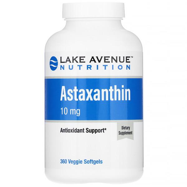 Astaxanthin, 10 mg, 360 Veggie Softgels