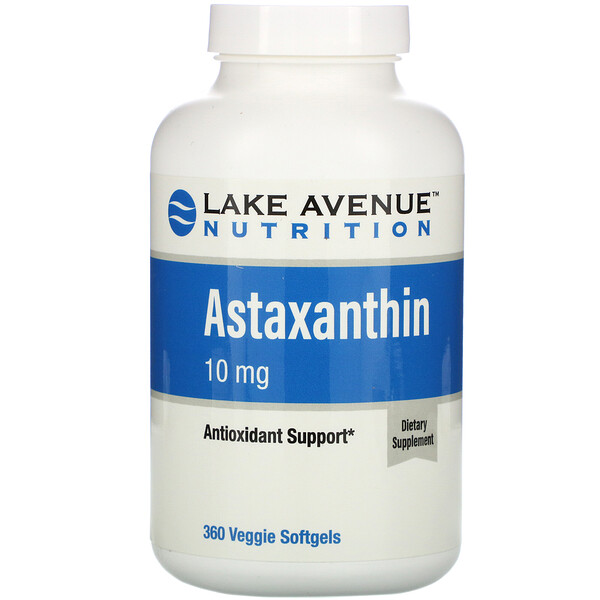 Lake Avenue Nutrition, Astaxanthin, 10 mg, 360 Veggie Softgels