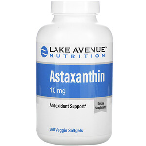 Lake Avenue Nutrition, Astaxanthin, 10 mg, 360 Veggie Softgels отзывы покупателей