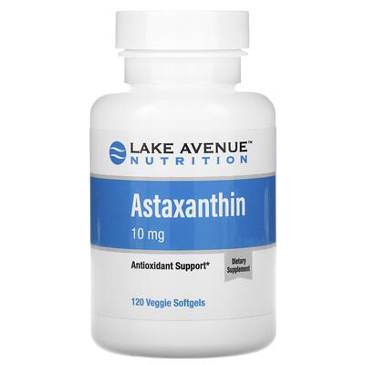 Купить Lake Avenue Nutrition астаксантин, 10мг, 120вегетарианских капсул