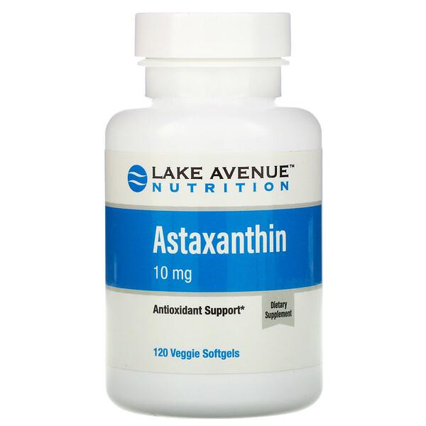 Lake Avenue Nutrition, 蝦青素,10 毫克,120 粒素食軟膠囊