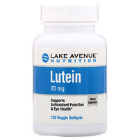 Lutein, 20 mg, 120 Veggie Softgels - фото