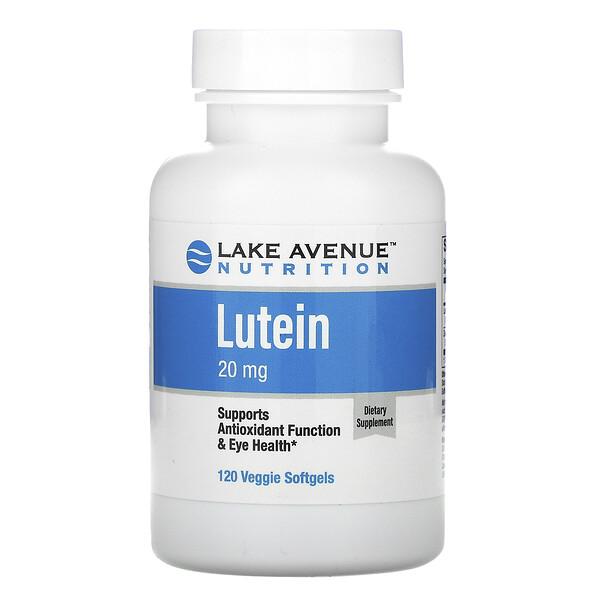 """לוטאין, 20 מ""""ג, 120 כמוסות רכות צמחיות"""