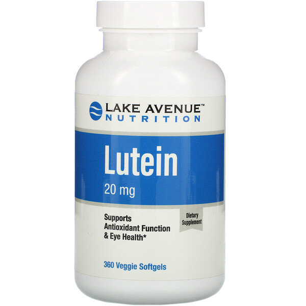Lutein, 20 mg, 360 Veggie Softgels