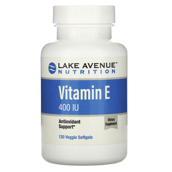 Lake Avenue Nutrition, Vitamin E, 400 IU, 120 Veggie Softgels