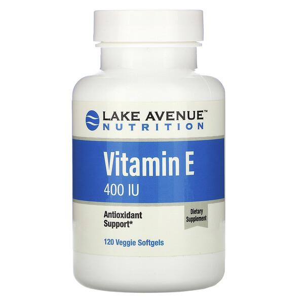 Lake Avenue Nutrition, Vitamin E, 400 IU, 120 Veggie Softgels