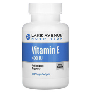 Lake Avenue Nutrition, Vitamin E, 400 IU, 120 Veggie Softgels отзывы покупателей