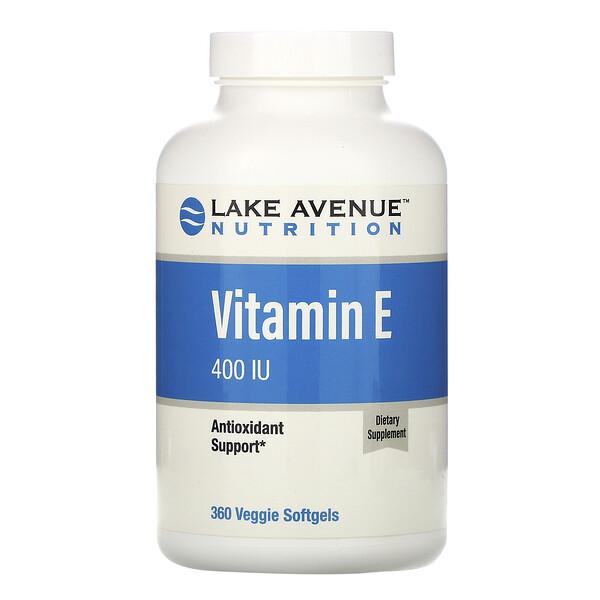 Vitamin E, 400 IU, 360 Veggie Softgels