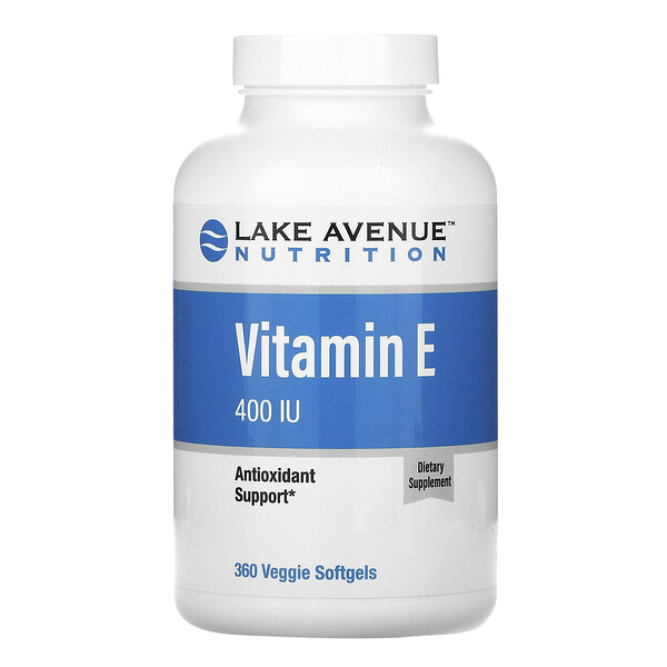 Lake Avenue Nutrition, Vitamina E, 400 UI, 360 cápsulas blandas vegetales