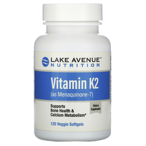 Lake Avenue Nutrition, Vitamin K2 (as Menaquinone-7), 50 mcg, 120 Veggie Softgels