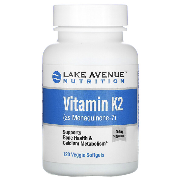 Lake Avenue Nutrition, Vitamin K2 (as Menaquinone-7), 50 mcg, 120 Veggie Softgels
