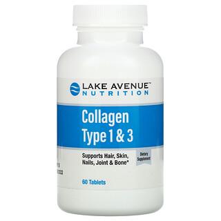 Lake Avenue Nutrition, Colágeno hidrolizado de tipo1 y3, 1000mg, 60comprimidos
