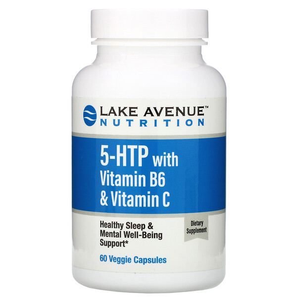 Lake Avenue Nutrition, 5-HTP with Vitamin B6 & Vitamin C,  60 Veggie Capsules