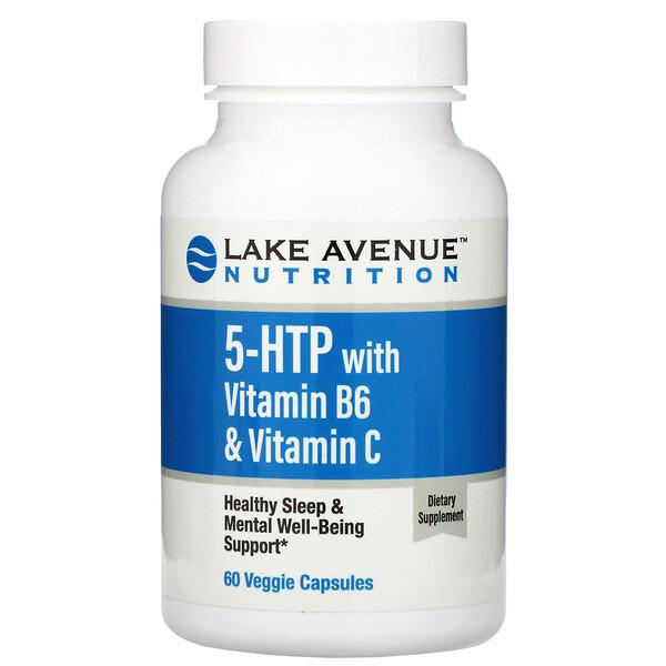 ビタミンB6&ビタミンC配合5-HTP、植物性カプセル60粒