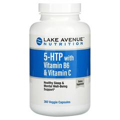 Lake Avenue Nutrition, 5-HTP with Vitamin B6 & Vitamin C, 5-HTP mit Vitamin B6 und Vitamin C, 360vegetarische Kapseln