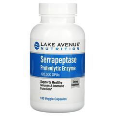 Lake Avenue Nutrition, Serrapeptase, Proteolytic Enzyme, 120,000 SPUs, 180 Veggie Capsules