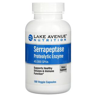 Lake Avenue Nutrition, 锯齿酵素加蛋白分解酵素素食胶囊,40,000 SPU,180 粒装