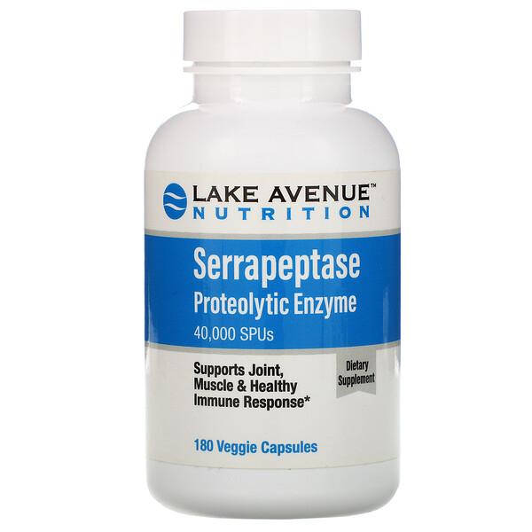 Серрапептаза, протеолитический фермент, 40 000SPU, 180растительных капсул