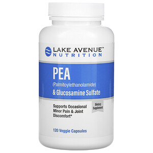 Lake Avenue Nutrition, PEA (Palmitoylethanolamide) + Glucosamine Sulfate, 600 mg + 1,200 mg Per Serving, 120 Veggie Capsules отзывы