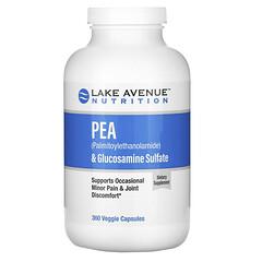 Lake Avenue Nutrition, PEA (Palmitoylethanolamide) & Glucosamine Sulfate, 360 Veggie Capsules