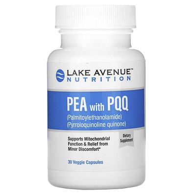 Lake Avenue Nutrition PEA (пальмитоилэтаноламид) с PQQ, 30растительных капсул