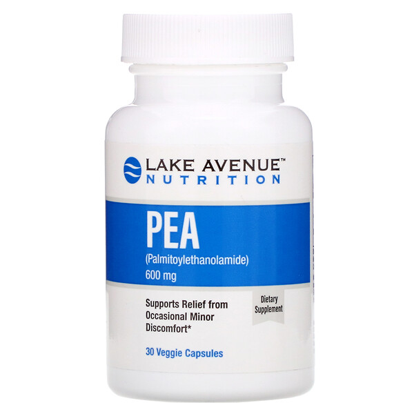 Lake Avenue Nutrition, PEA (Palmitoylethanolamide), 600 mg Per Serving, 30 Veggie Capsules