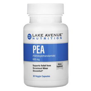 Lake Avenue Nutrition, PEA (Palmitoylethanolamide), 600 mg Per Serving, 30 Veggie Capsules отзывы