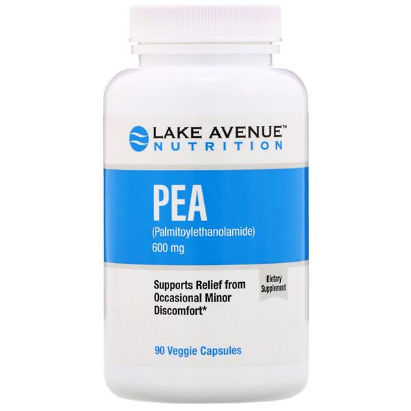 PEA (Palmitoylethanolamide), 600 mg, 90 Veggie Capsules