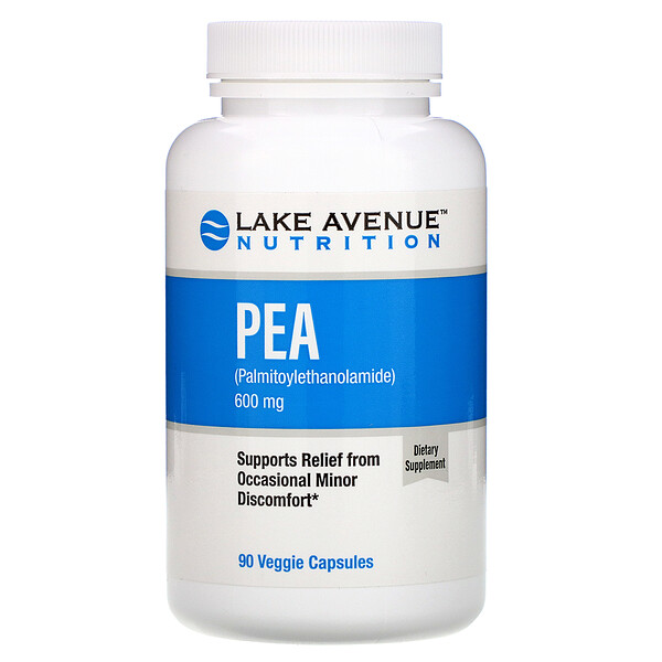 PEA (Palmitoylethanolamide), 600 mg Per Serving, 90 Veggie Capsules
