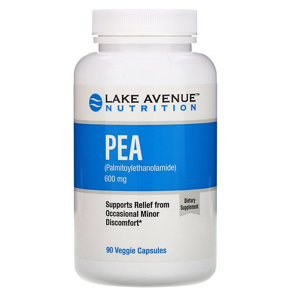 Lake Avenue Nutrition, PEA (Palmitoylethanolamide), 600 mg Per Serving, 90 Veggie Capsules