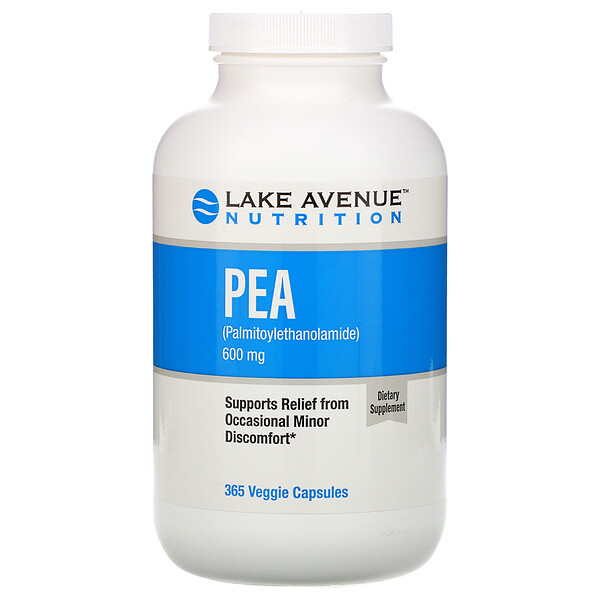 Lake Avenue Nutrition, PEA (Palmitoylethanolamide), 600 mg Per Serving, 365 Veggie Capsules