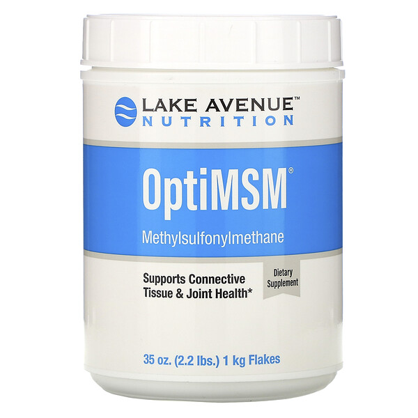 "Lake Avenue Nutrition, פתיתי OptiMSM,‏ 2.2 גרם (35 אונקיות) 1 ק""ג"