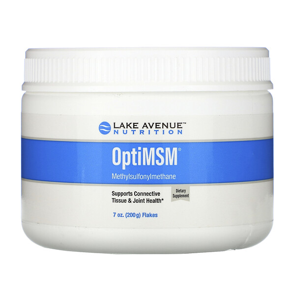 Lake Avenue Nutrition, פתיתי OptiMSM,‏ 200 גרם (7 אונקיות)