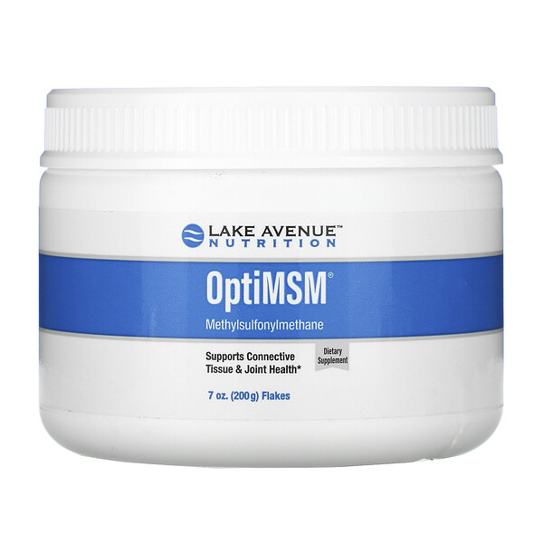 Lake Avenue Nutrition, OptiMSM, хлопья, 200 г (7 унций)