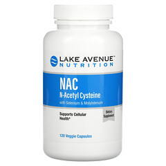Lake Avenue Nutrition, NAC, N-Acetyl Cysteine with Selenium & Molybdenum, 600 mg, 120 Veggie Capsules