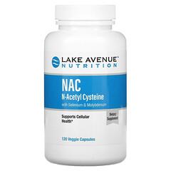Lake Avenue Nutrition, NAC, N-acetilcisteína con selenio y molibdeno, 600mg, 120cápsulas vegetales