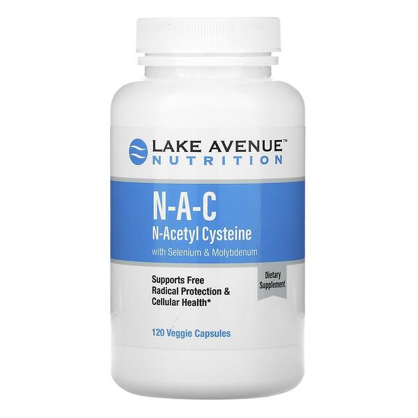 NAC, N-Acetyl Cysteine with Selenium & Molybdenum, 600 mg, 120 Veggie Capsules