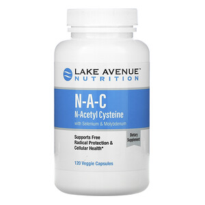 Lake Avenue Nutrition, NAC, N-Acetyl Cysteine with Selenium & Molybdenum, 600 mg, 120 Veggie Capsules отзывы