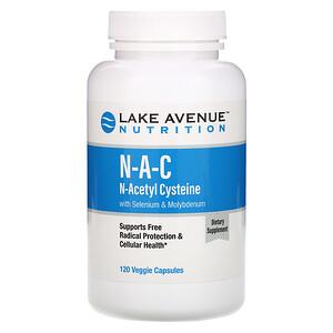 Lake Avenue Nutrition, N-A-C, N-Acetyl Cysteine with Selenium & Molybdenum, 600 mg, 120 Veggie Capsules