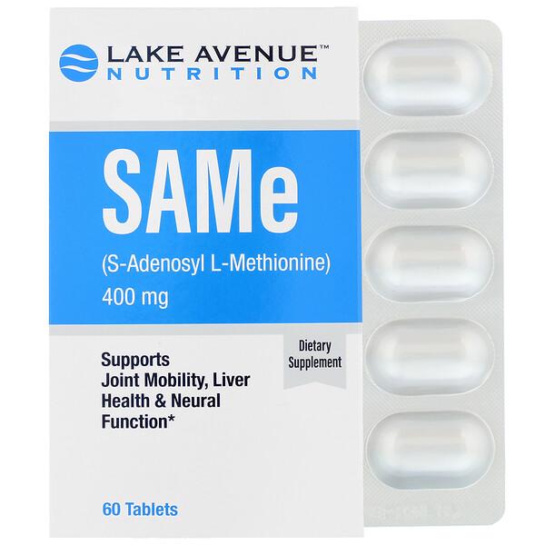 SAMe (S-Adenosyl L-Methionine), 400 mg, 60 Tablets