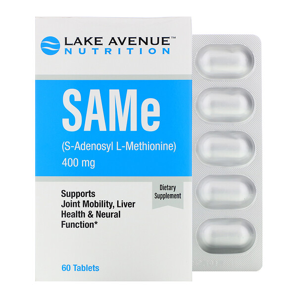 Lake Avenue Nutrition, SAMe (S-Adenosyl L-Methionine), 400 mg, 60 Tablets