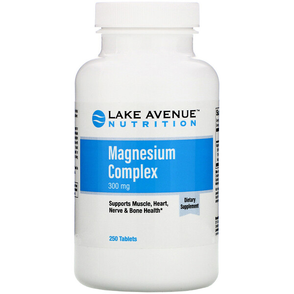 Magnesium Complex, 300 mg, 250 Tablets